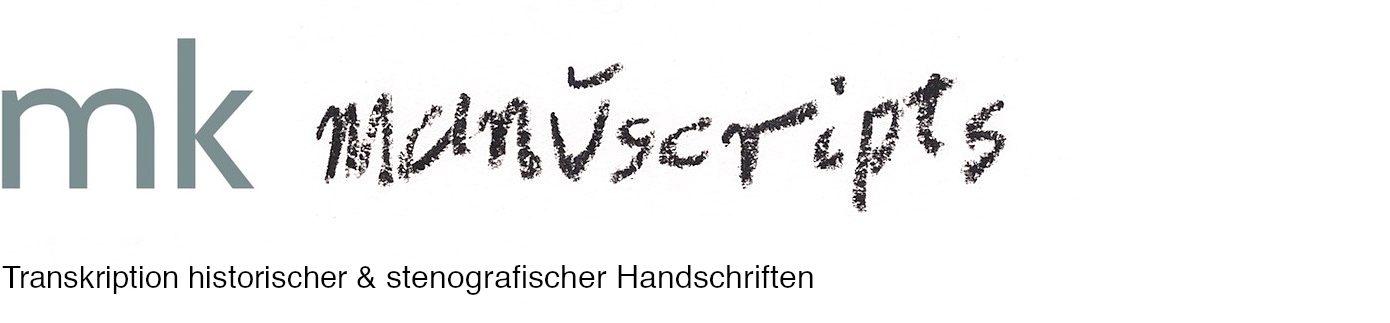Transkription von alten deutschen Handschriften & Stenografie